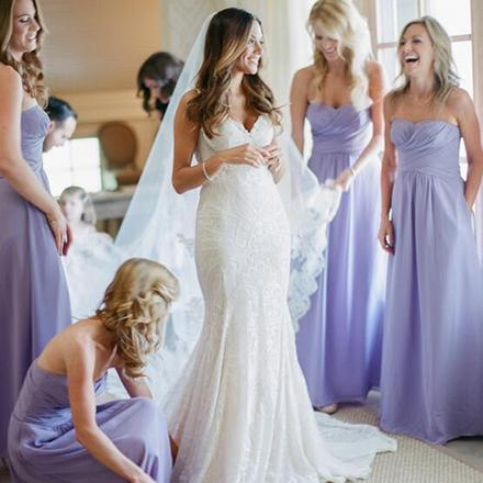 Bridesmaid Dress, Empire Bridesmaid Dress, Lavender Bridesmaid Dress, Chiffon Bridesmaid Dress, Long Bridesmaid Dress, Ruffles Bridesmaid Dress, Cheap Bridesmaid Dress, Floor Length Dresses for Wedding
