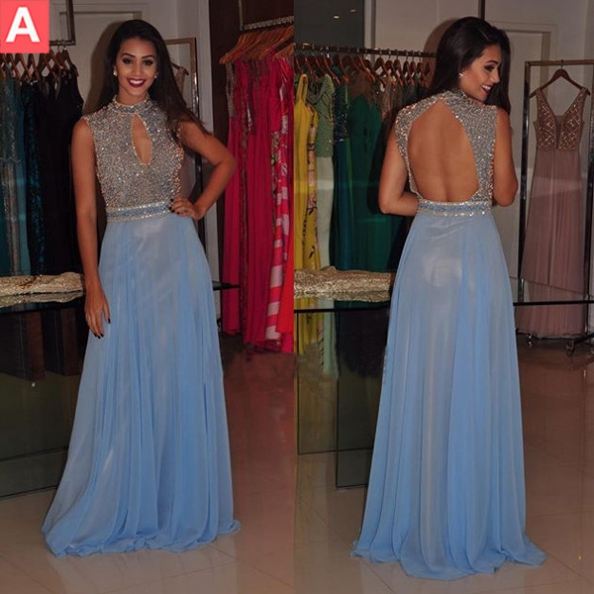 Cheap prom dresses 2017, Beaded Prom Dresses,A-line Prom Dresses,Prom Dresses Blue Chiffon,Prom Dresses Long Sexy,Prom Dresses Open Back,Party Dresses Long Sexy,Sexy Cocktail Dresses,Sexy Formal Gowns,Prom Dresses 2017,Evening Dresses for Women