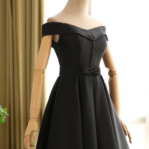Cheap homecoming dresses 2017,Black Homecoming Dress,Short Off Shoulder Sleeves Prom Dress,Black Graduation Dress,Sexy Off Shoulder Sleeves Party Dress,Little Black Dress