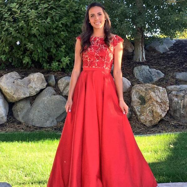 Cheap prom dresses 2017,red Prom Dress lace promBeading Prom Dress long prom dress Fashion Prom Dresses Prom Dress Cocktail Evening Gown For Wedding Party