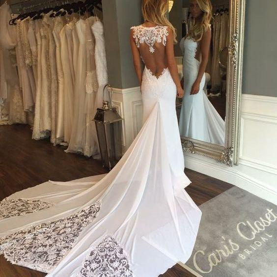 Cheap wedding dresses 2017,Wedding Dresses,Wedding Gown,Princess Wedding Dresses Mermaid Wedding Dress with Backless mermaid brides dress