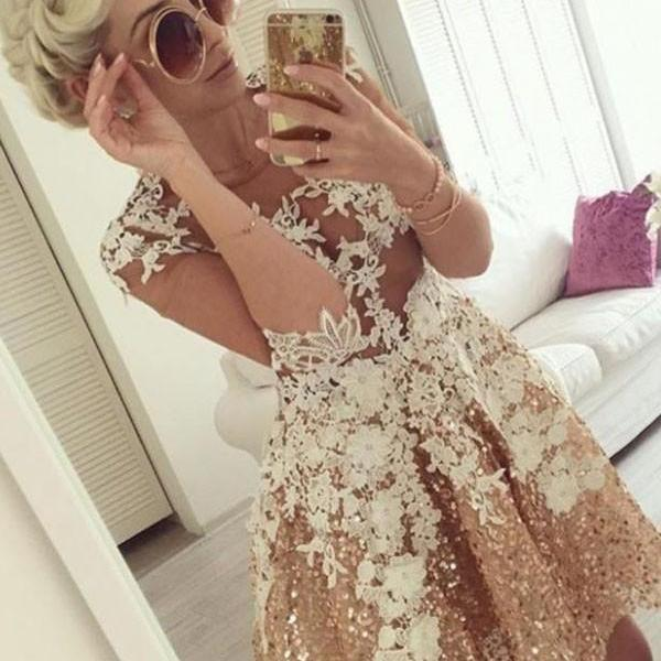 Cheap homecoming dresses 2017,A-line Homecoming Dresses,Appliques Homecoming Dresses,Short Prom Dresses