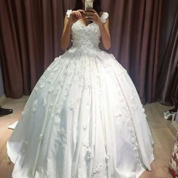 Cheap wedding dresses 2017,V Neckline Lace Appliqued Corset Bridal Dresses Ball Gowns,