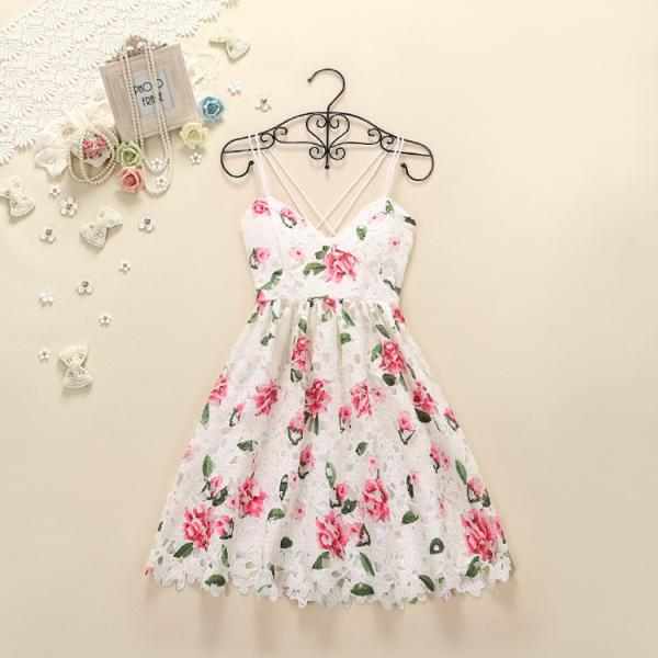 Pretty High Quality Floral Lace Dresses, Summer Dresses