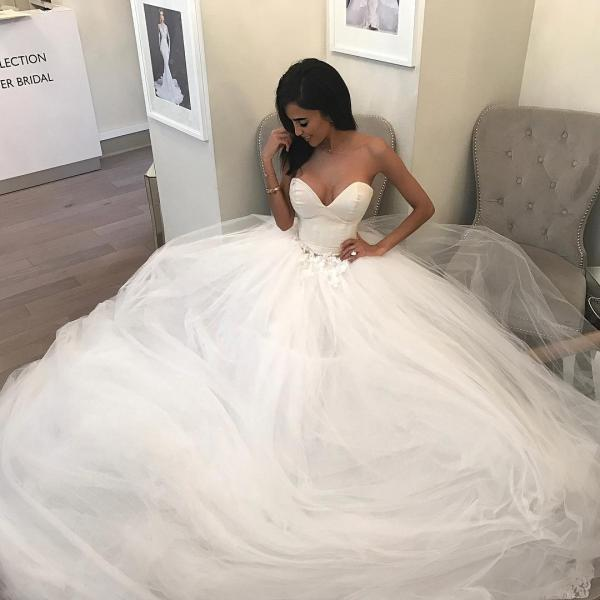 Ball Gown Wedding Dress, Sexy Wedding Dresses, Tulle Wedding Dress, Wedding Gowns