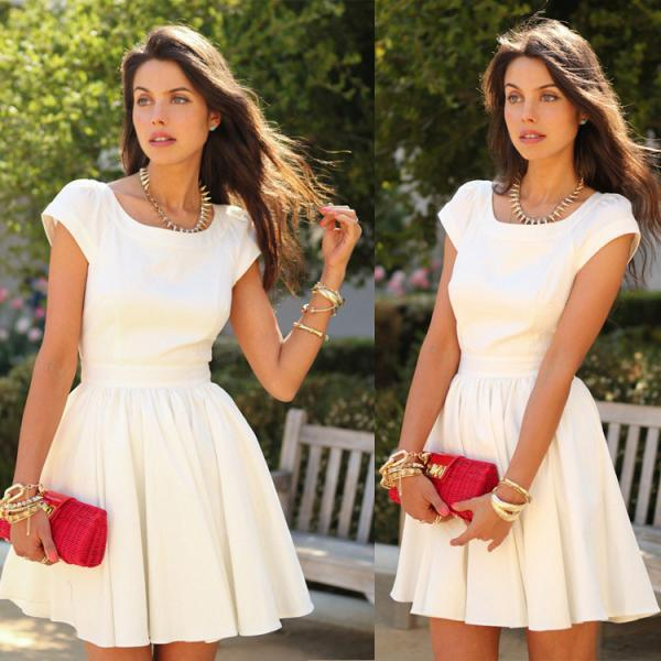 HOT SHORT SLEEVE CUTE DRESS