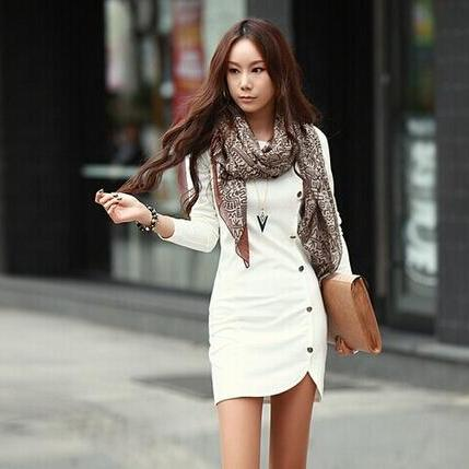 2014 Autumn Winter Warm Women Cotton Bottomed Winter Dress Ladie'S Evening Clothes Party Long Sleeve