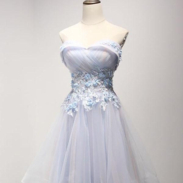 Short Homecoming Dress, Tulle Homecoming Dress, Sweet Heart Homecoming Dress