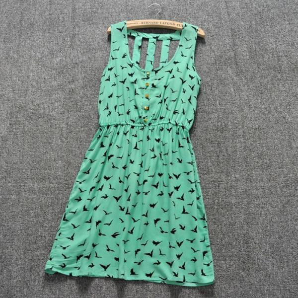 Sleeveless Vest Waist Dress