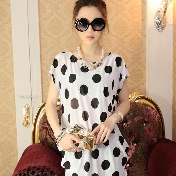 2015 spring summer new tide and large ice silk fashion dress code loose loose stamp in the long skirt