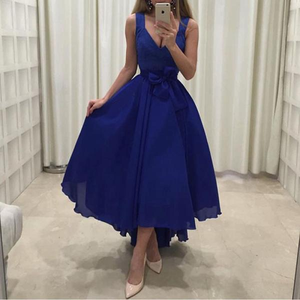 Sexy Royal Blue Prom Evening Dress Party Gowns Formal Dresses 2017