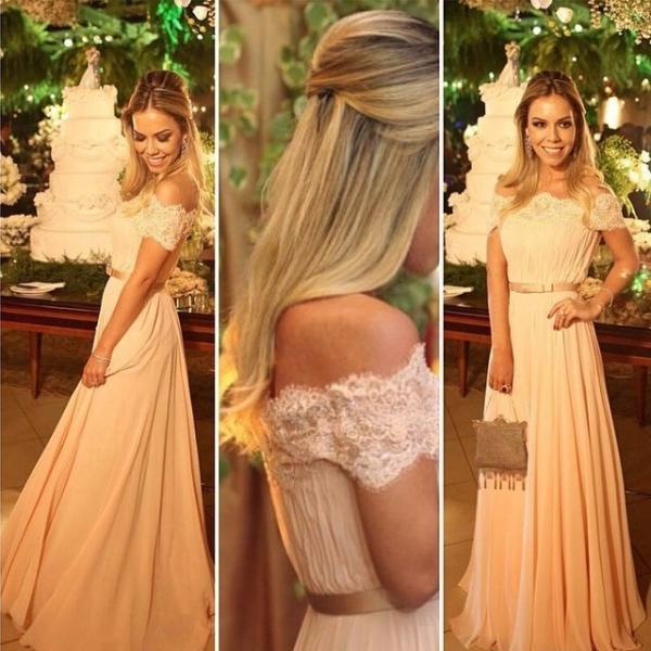 Charming Prom Dress,Chiffon Long Prom Dresses,Long Evening Dress,Sexy Prom Party Gown