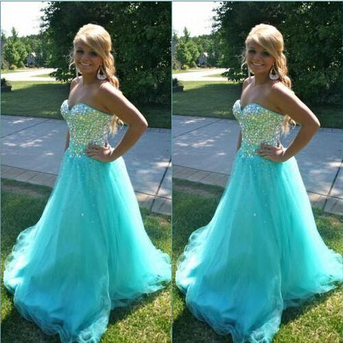 Ulass Custom made Vstidos de festa Sexy Sweetheart Sparkly Stones Blue Sexy Long 2017 Prom Dresses For Special Occasions Ball Gown