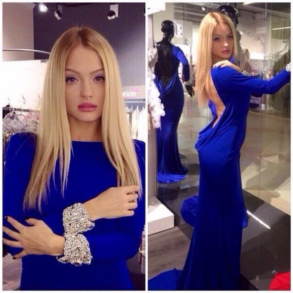 Simple Prom Dress, Long Sleeves Prom Dress, Open Back Prom Dress, Royal blue Prom Dress, Mermaid Prom Dress, Sexy Prom Dresses,Cheap Prom Dress,Evening Dress