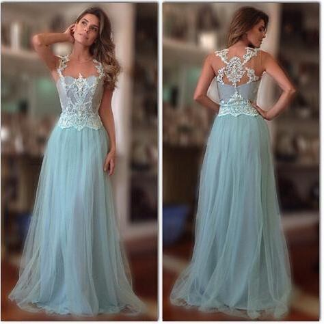 Special Occasion Dress,2017 prom dress,A Line prom dress,Style Appliqued prom dress,Tulle Women Gowns,New Arrival prom dress,