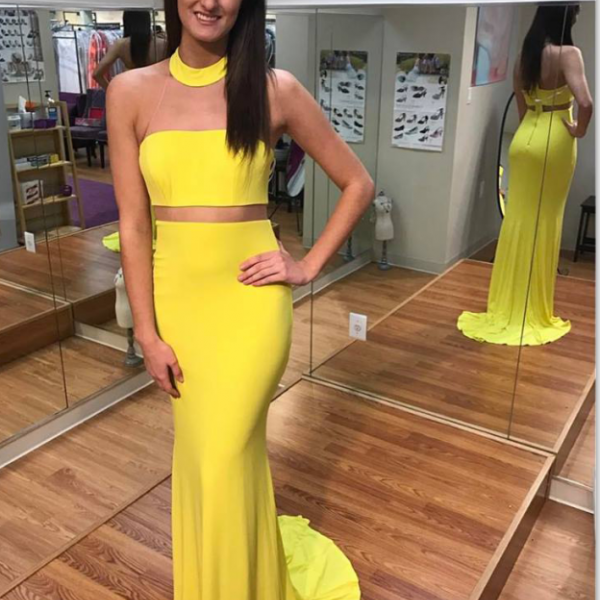 Mermaid Yellow Prom Dresses,Mermaid Prom Dresses,Long Prom Dress,Evening Dresses,Prom Dresses For Teens,Prom Dress 2017,Elegant Prom Gowns,Charming Party Dresses