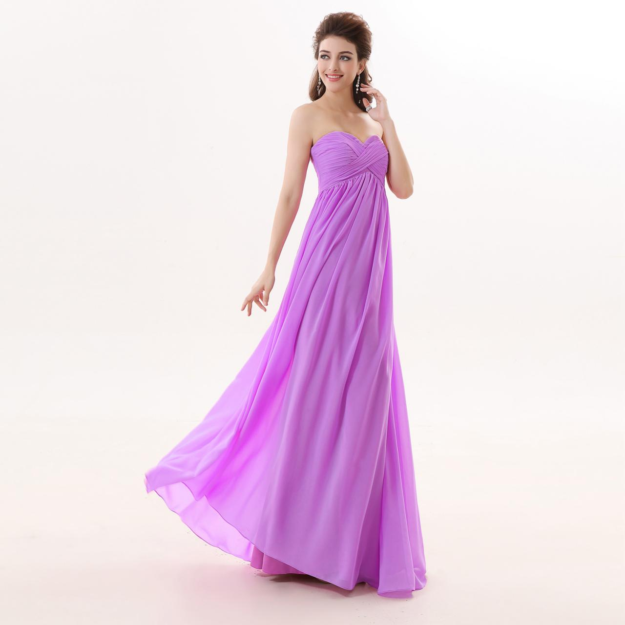 Light Purple Floor Length Dress